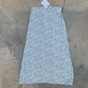 NWD Brandy Melville Floral Midi Skirt